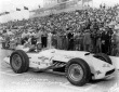 Al Herman in the #89 Dunn Engineering Dunn Offy after qualifying for the 1957 Indianapolis 500. -- Photo by: No Photographer
