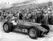 Jim Rathman driver of the #26 Chiropractic Epperly/Offy after qualifying for the 1957 Indianapolis 500. -- Photo by: No Photographer