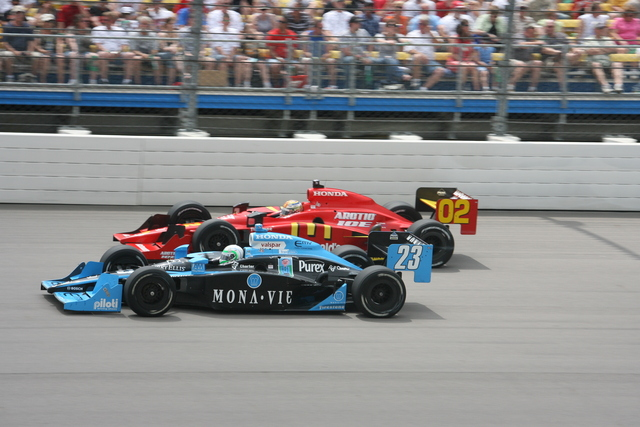 In lotta con Graham Rahal in Iowa. Steve Snoddy, indycar.com
