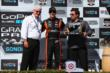Simon Pagenaud accepts his 3rd Place trophy for the GoPro Grand Prix of Sonoma at Sonoma Raceway -- Photo by: Chris Jones