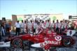 Scott Dixon and the Target Chip Ganassi Team in Victory Lane after winning the GoPro Grand Prix of Sonoma at Sonoma Raceway -- Photo by: Chris Jones