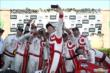 Scott Dixon and his Target Chip Ganassi Racing team take a selfie in Victory Lane after winning the GoPro Grand Prix of Sonoma at Sonoma Raceway -- Photo by: Chris Jones