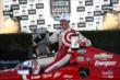 Scott Dixon with the Winners Trophy and TAG Heuer watch after winning the GoPro Grand Prix of Sonoma at Sonoma Raceway -- Photo by: Chris Jones