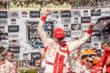 Scott Dixon celebrates his win in Victory Circle after the GoPro Grand Prix of Sonoma at Sonoma Raceway -- Photo by: John Cote
