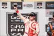 Scott Dixon toasts the Sonoma crowd with the celebratory wine goblet after winning the GoPro Grand Prix of Sonoma at Sonoma Raceway -- Photo by: John Cote