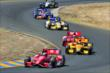 Scott Dixon leads the field through the backstretch esses during the GoPro Grand Prix of Sonoma at Sonoma Raceway -- Photo by: John Cote