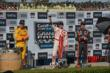 Scott Dixon hoists the victor's wine goblet after winning the GoPro Grand Prix of Sonoma -- Photo by: John Cote