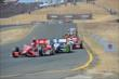 Scott Dixon leads a train of cars into the Turn 9 Chicane during the GoPro Grand Prix of Sonoma at Sonoma Raceway -- Photo by: John Cote