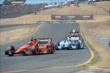 Simon Pagenaud leads James Hinchcliffe into the Turn 9 Chicane during the GoPro Grand Prix of Sonoma at Sonoma Raceway -- Photo by: John Cote