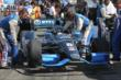 Ryan Briscoe's car is brought out to the grid during pre-race festivities for the GoPro Grand Prix of Sonoma at Sonoma Raceway -- Photo by: Richard Dowdy
