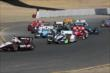 Will Power leads the field up to Turn 2 during the start of the GoPro Grand Prix of Sonoma at Sonoma Raceway -- Photo by: Richard Dowdy