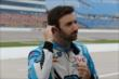 James Hinchcliffe prepares for practice for the Iowa Corn Indy 300 at Iowa Speedway -- Photo by: Chris Jones