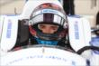 Mikhail Aleshin is strapped in for practice for the Iowa Corn Indy 300 at Iowa Speedway -- Photo by: Chris Jones