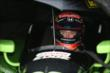 Jack Hawksworth waits out the rain delay in his machine at Iowa Speedway -- Photo by: Chris Jones