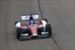 Takuma Sato streaks down the frontstretch during practice for the Iowa Corn Indy 300 at Iowa Speedway -- Photo by: Chris Jones