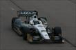 Ed Carpenter streaks down the frontstretch during practice for the Iowa Corn Indy 300 at Iowa Speedway -- Photo by: Chris Jones