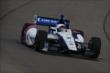 Mikhail Aleshin enters Turn 1 during practice for the Iowa Corn Indy 300 at Iowa Speedway -- Photo by: Chris Jones