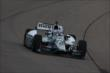 Graham Rahal enters Turn 1 during practice for the Iowa Corn Indy 300 at Iowa Speedway -- Photo by: Chris Jones