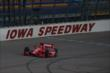 Tony Kanaan on course during the morning practice for the Iowa Corn Indy 300 at Iowa Speedway -- Photo by: Chris Jones