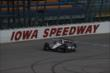 Will Power crosses the start/finish line during practice for the Iowa Corn Indy 300 at Iowa Speedway -- Photo by: Chris Jones