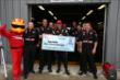 Will Power accepts the Firestone Pit Stop Performance Award for Team Penske's performance at Pocono Raceway -- Photo by: Chris Jones