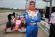 Justin Wilson waits on pitlane prior to practice for the Iowa Corn Indy 300 at Iowa Speedway -- Photo by: Chris Jones