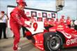 Scott Dixon wins the Verizon P1 Award for winning the pole position for the Iowa Corn Indy 300 at Iowa Speedway -- Photo by: Chris Jones