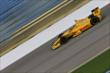 Ryan Hunter-Reay on course during practice for the Iowa Corn Indy 300 at Iowa Speedway -- Photo by: Shawn Gritzmacher