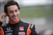 Simon Pagenaud preps for practice at Iowa Speedway -- Photo by: Shawn Gritzmacher