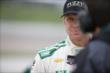 Ed Carpenter waits on pitlane prior to practice for the Iowa Corn Indy 300 at Iowa Speedway -- Photo by: Shawn Gritzmacher