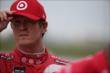 Scott Dixon waits on pitlane prior to practice for the Iowa Corn Indy 300 at Iowa Speedway -- Photo by: Shawn Gritzmacher