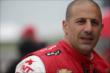 Tony Kanaan waits on pitlane prior to practice for the Iowa Corn Indy 300 at Iowa Speedway -- Photo by: Shawn Gritzmacher