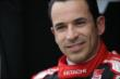 Helio Castroneves in his pit stand prior to practice for the Iowa Corn Indy 300 at Iowa Speedway -- Photo by: Shawn Gritzmacher