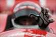 Tony Kanaan prepares for his qualification attempt at Iowa Speedway -- Photo by: Shawn Gritzmacher
