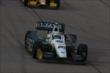 Ed Carpenter streaks down the frontstretch during the early stages of the Iowa Corn Indy 300 at Iowa Speedway -- Photo by: Chris Jones
