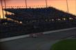Sunset at the Iowa Speedway during the early stages of the Iowa Corn Indy 300 -- Photo by: Chris Jones
