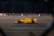 Ryan Hunter-Reay streaks through Turns 1 and 2 during the Iowa Corn Indy 300 at Iowa Speedway -- Photo by: Chris Jones