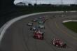Scott Dixon and Tony Kanaan lead the pack at the start of the Iowa Corn Indy 300 -- Photo by: Chris Jones