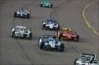 Track action during the start of the Iowa Corn Indy 300 -- Photo by: Chris Jones