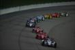 The field strings out during the Iowa Corn Indy 300 -- Photo by: Chris Jones