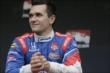 Mikhail Aleshin during pre-race festivities for the Iowa Corn Indy 300 at Iowa Speedway -- Photo by: Shawn Gritzmacher