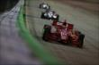 Tony Kanaan leads the field during the Iowa Corn Indy 300 at Iowa Speedway -- Photo by: Shawn Gritzmacher