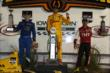 Ryan Hunter-Reay, Josef Newgarden, and Tony Kanaan on the podium at Iowa Speedway -- Photo by: Chris Jones