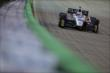 Ed Carpenter heads into Turn 3 during the Iowa Corn Indy 300 at Iowa Speedway -- Photo by: Shawn Gritzmacher