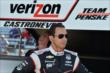 Helio Castroneves on pitlane prior to practice -- Photo by: John Cote
