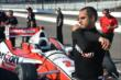 Juan Pablo Montoya prepares for practice for the Grand Prix of Indianapolis -- Photo by: John Cote
