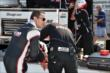 Helio Castroneves on pitlane prior to practice at the Indianapolis Motor Speedway -- Photo by: John Cote