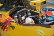 Ryan Hunter-Reay gets prepped for practice at the Indianapolis Motor Speedway -- Photo by: John Cote