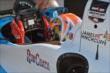 James Hinchcliffe attaches his steering wheel prior to practice -- Photo by: John Cote