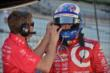 Scott Dixon gets prepared for practice for the Grand Prix of Indianapolis -- Photo by: John Cote